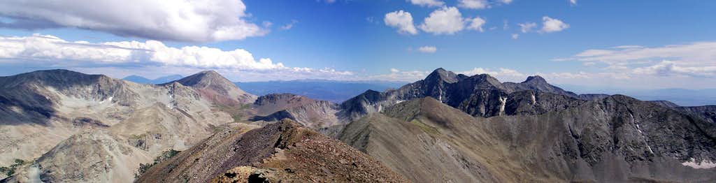 Blanca Massif Panorama - Huerfano Peak at far left
