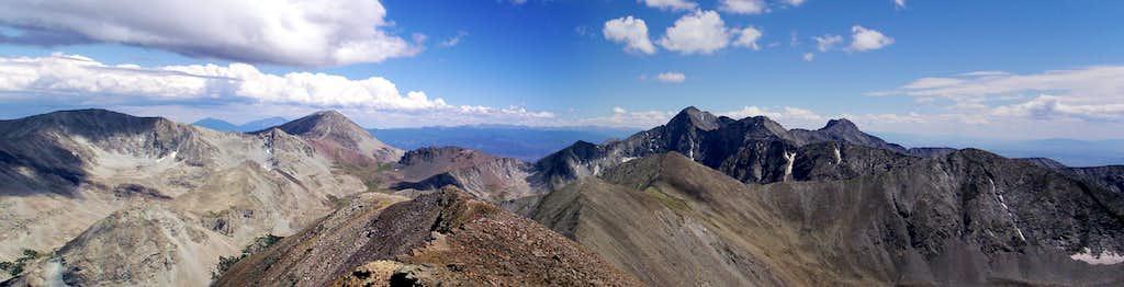 Blanca Massif Panorama - Huerfano Peak at far left