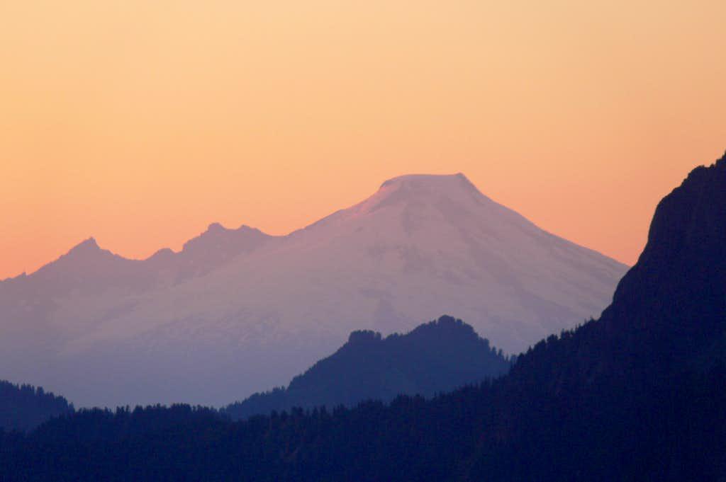 Mt. Baker at Sunset