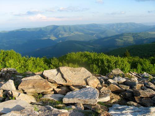 Judy Gap from summit
