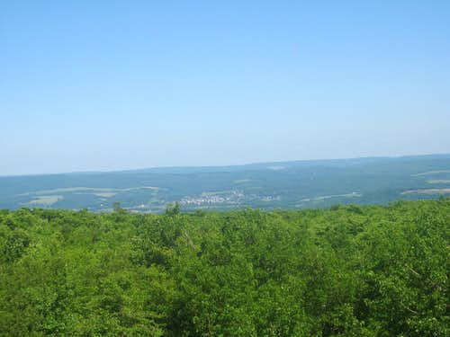 View of Salisbury, PA from the summit