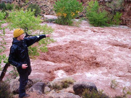 Dark Canyon Flash Flood