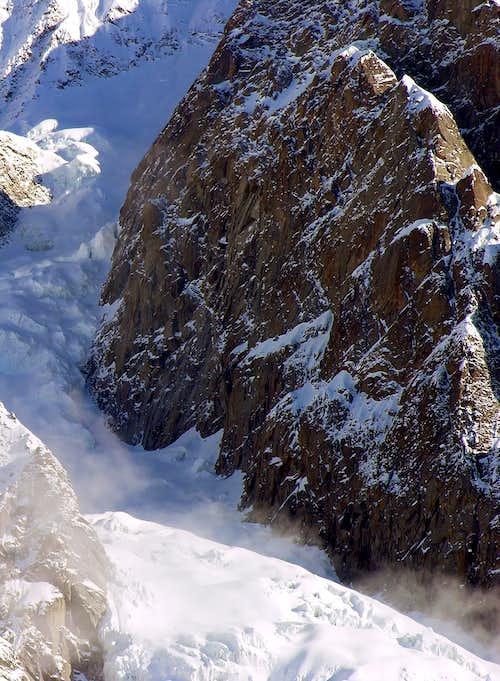 Il ghiacciaio delle Grandes Jorasses