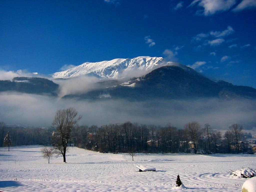 Winter view of  Valsassina