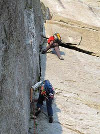 Rebuffat dihedral of Cassin route