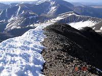 The tiny summit ridge