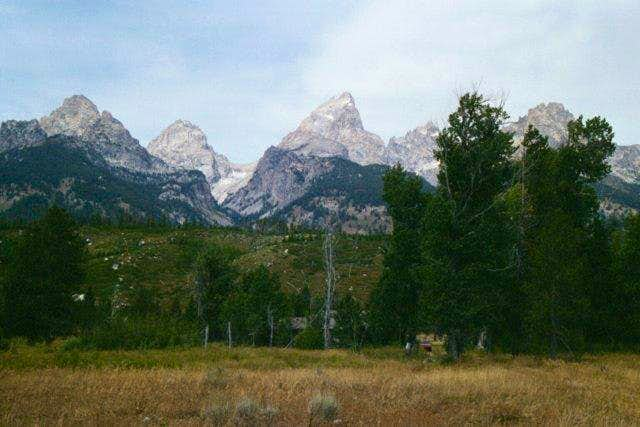A view of the Tetons from...