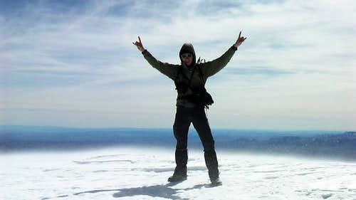 Climbingpartner on the summit