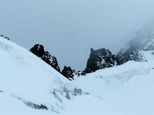 The glacier at Mitterkarjoch (3468m)