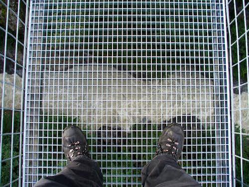 Looking down...