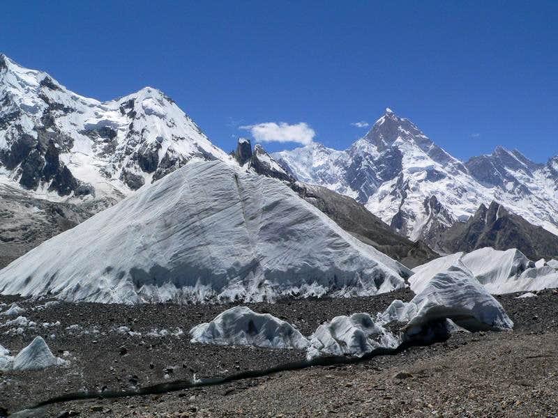 Masherbrum (7821m) from Baltoro Glacier
