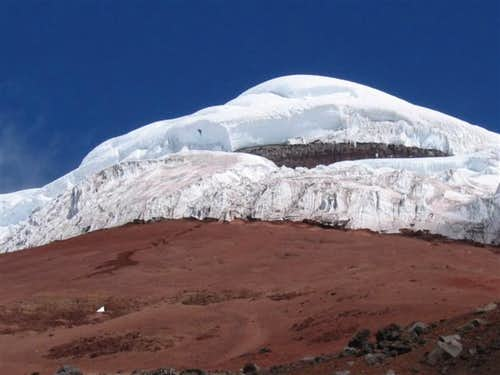 Cotopaxi summit from the hut