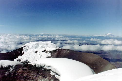 View from Cotopaxi summit