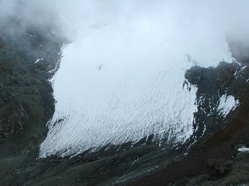 End of Niederjoch glacier