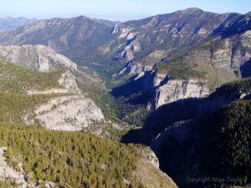 View of Kyle Canyon