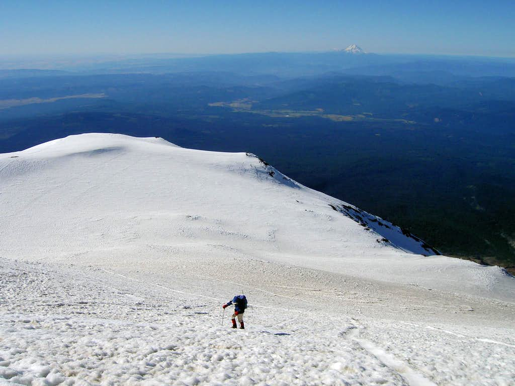 Approaching Adams' Summit