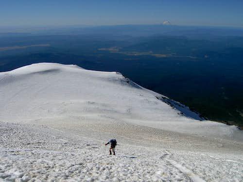 Approaching Adams' Summit