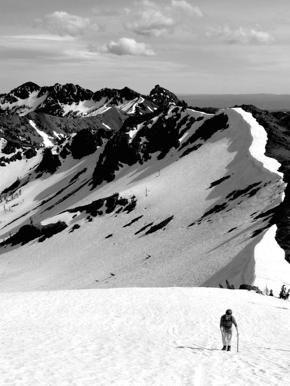 Walking the ridge west from Longs Pass