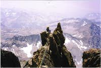 Climbing on the SW Arete of Mt. Winchell