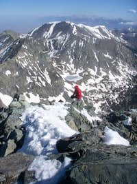 Jay Meandering Up The Summit Ridge