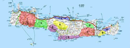 Overview map of Crete
