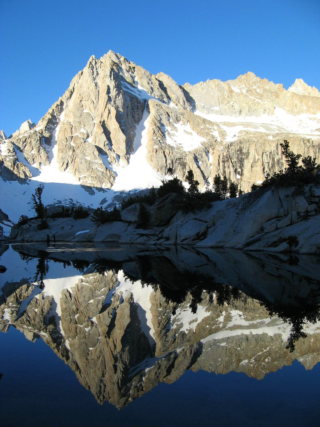 Dawn Reflection of Picture Peak 13,120' in Hungry Packer Lake