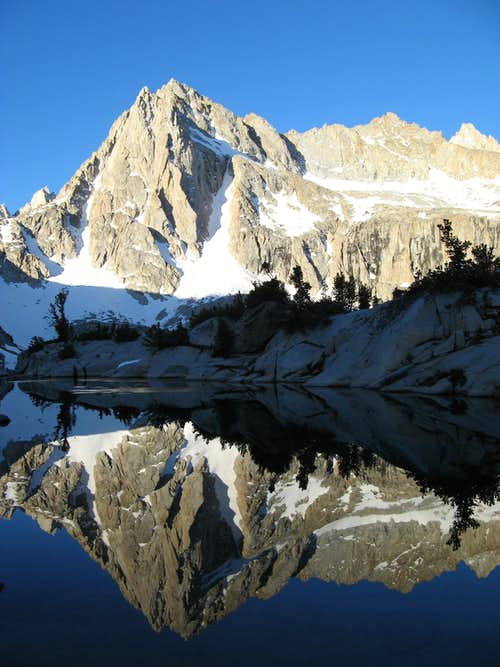Dawn Reflection of Picture Peak 13,120\' in Hungry Packer Lake