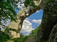 The Arch of Vaskapu Rock