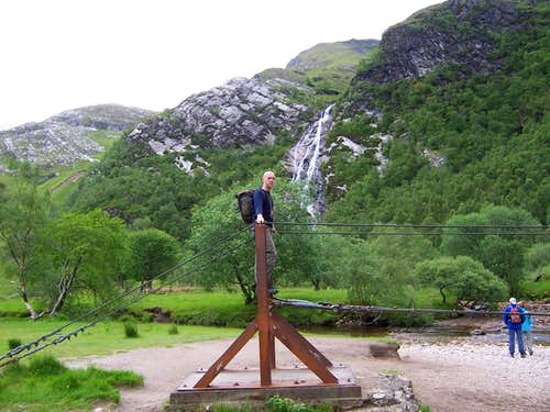 Bridge and Steall Waterfall