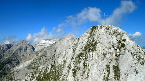The summit of the Obere Wettersteinspitze
