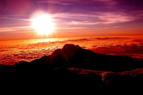 Kilimanjaro - Sunrise on the...