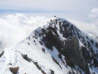 Final ridge to Poset's summit
