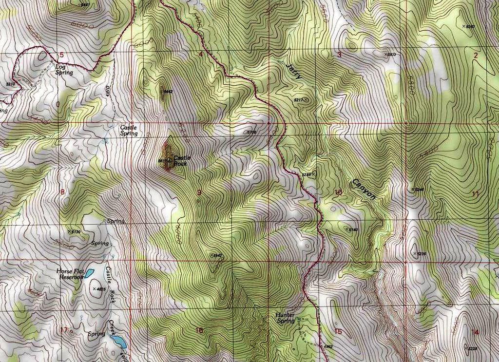 Map of Castle Rock