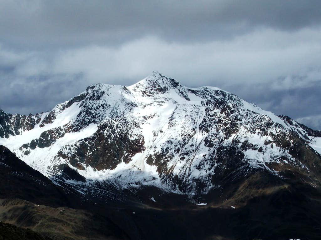 Wildspitze from Kreuzspitze