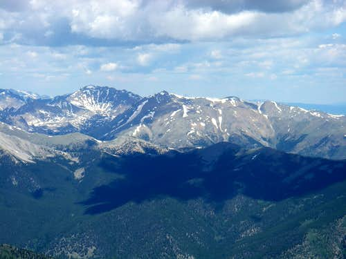 Mt Harvard and Mt Columbia (from Mt Princeton)