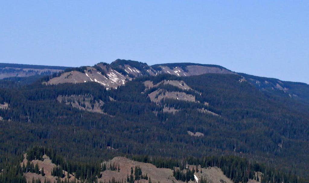 Crag Crest from Leon Peak