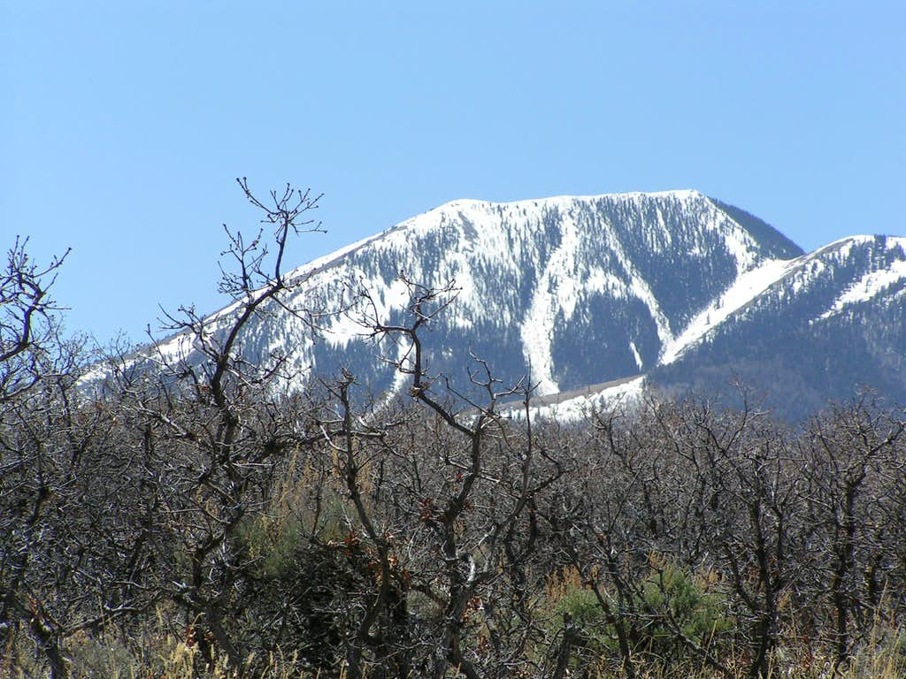 Abajo mountains above Indian Creek.