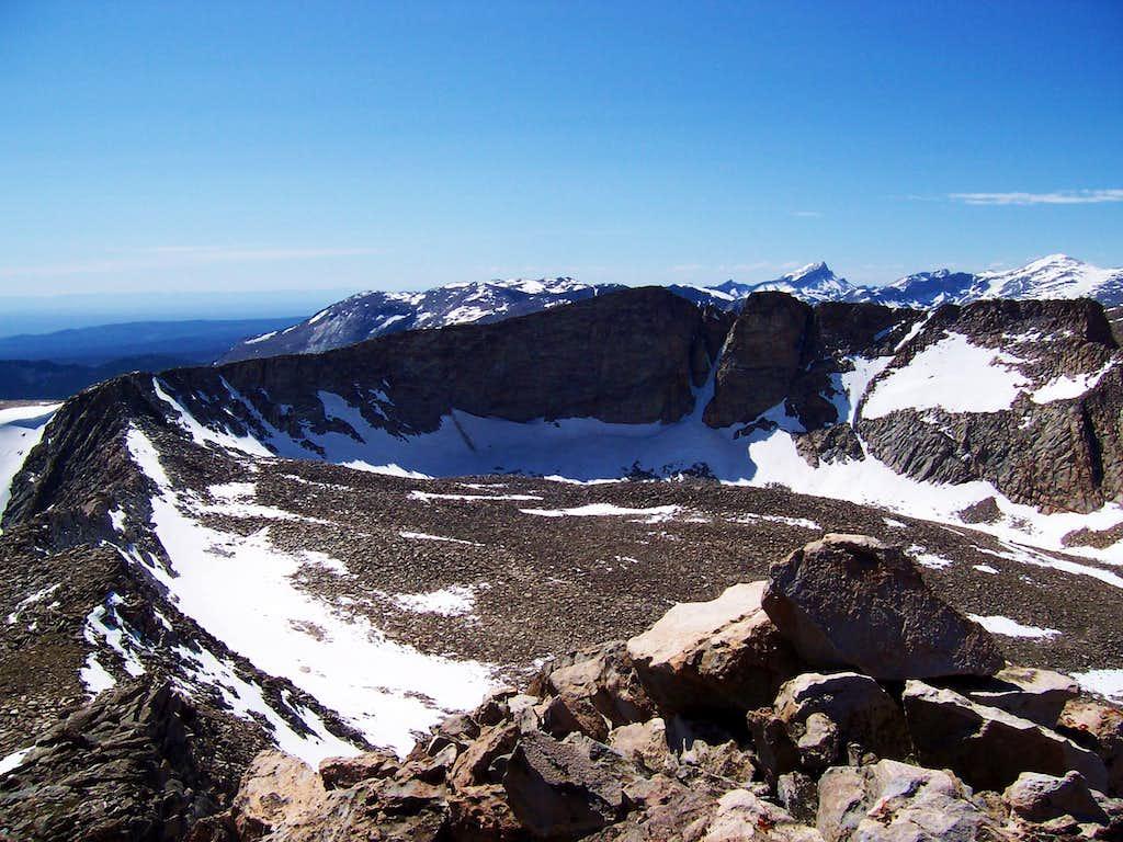 Mount Nystrom from Atlantic Peak