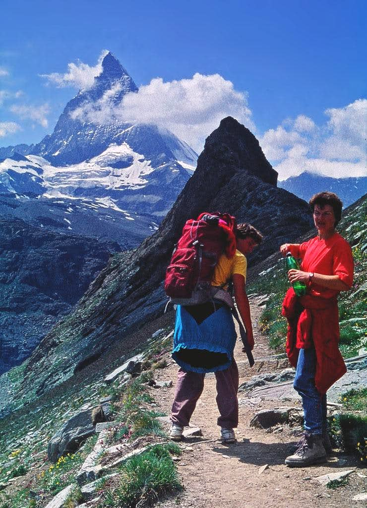Matterhorn from below Gornergrat