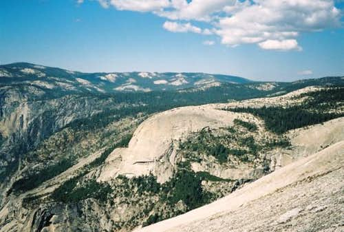 North Dome, from Half Dome,...