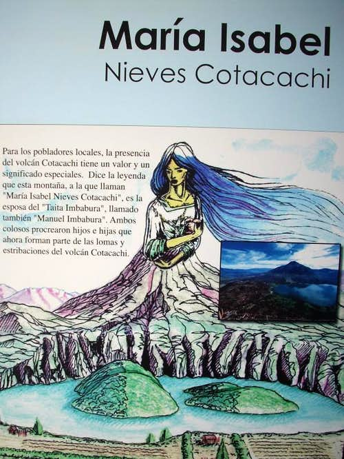 Legend about Volcano Cotacachi