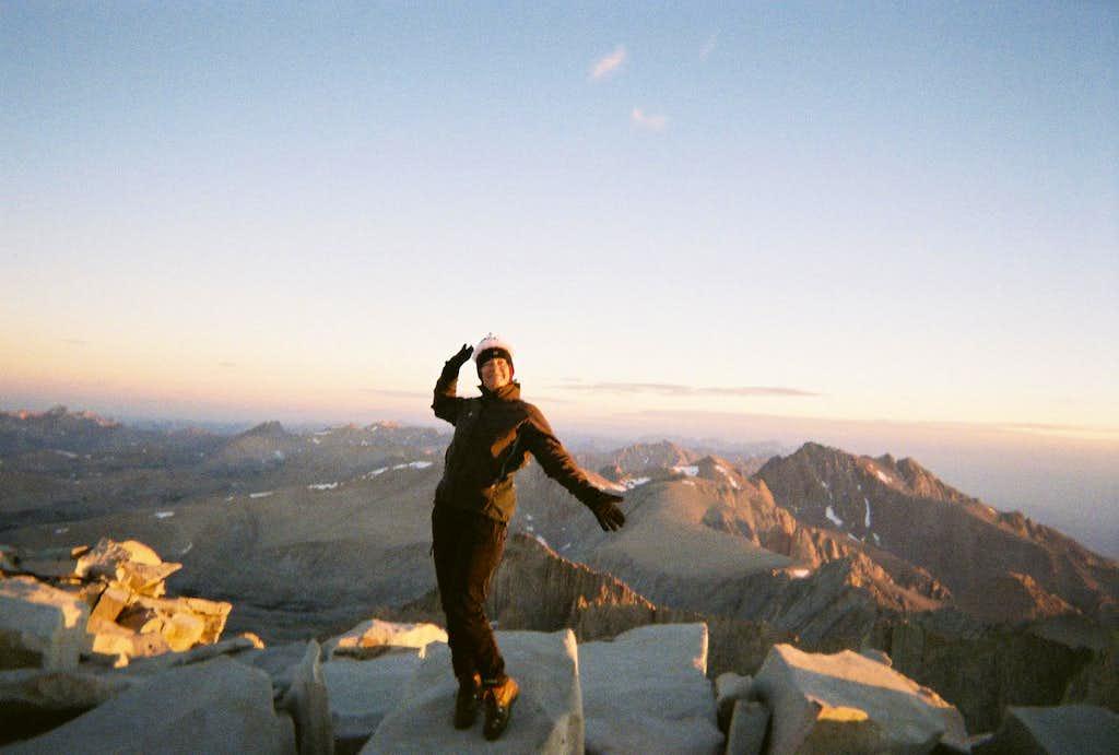 Dawn on Mt Whitney summit
