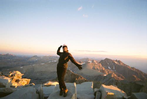 Dawn on Mt Whitney summit