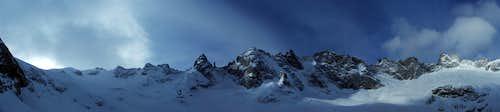 Forno glacier panorama