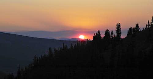 Sunset in the La Garita Mountains