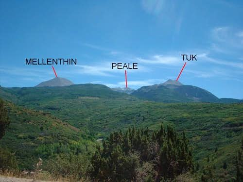 Southern part of the La Sal's...