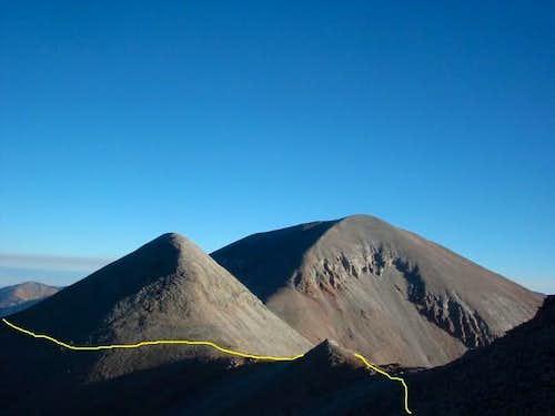 Looking at Laurel Peak with...