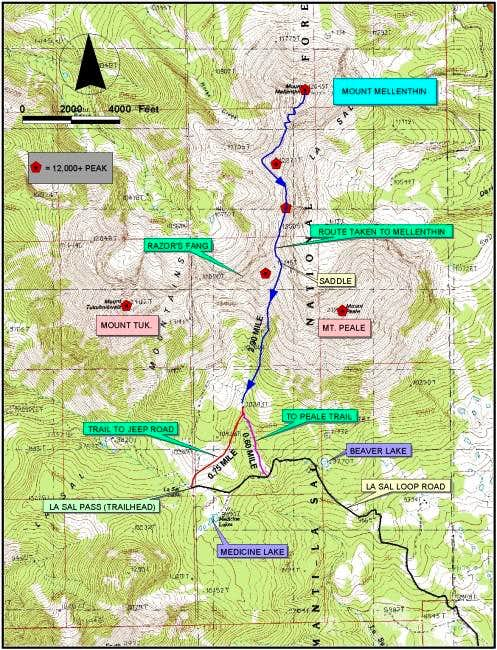 Quad based route map
