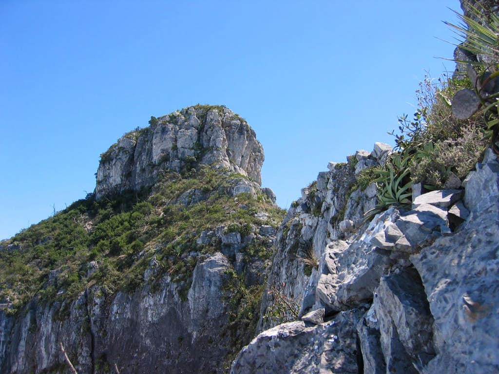 Summit cap from near the final ridge