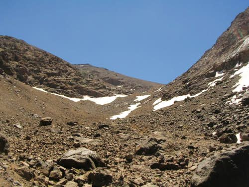 Crater and summit ridge